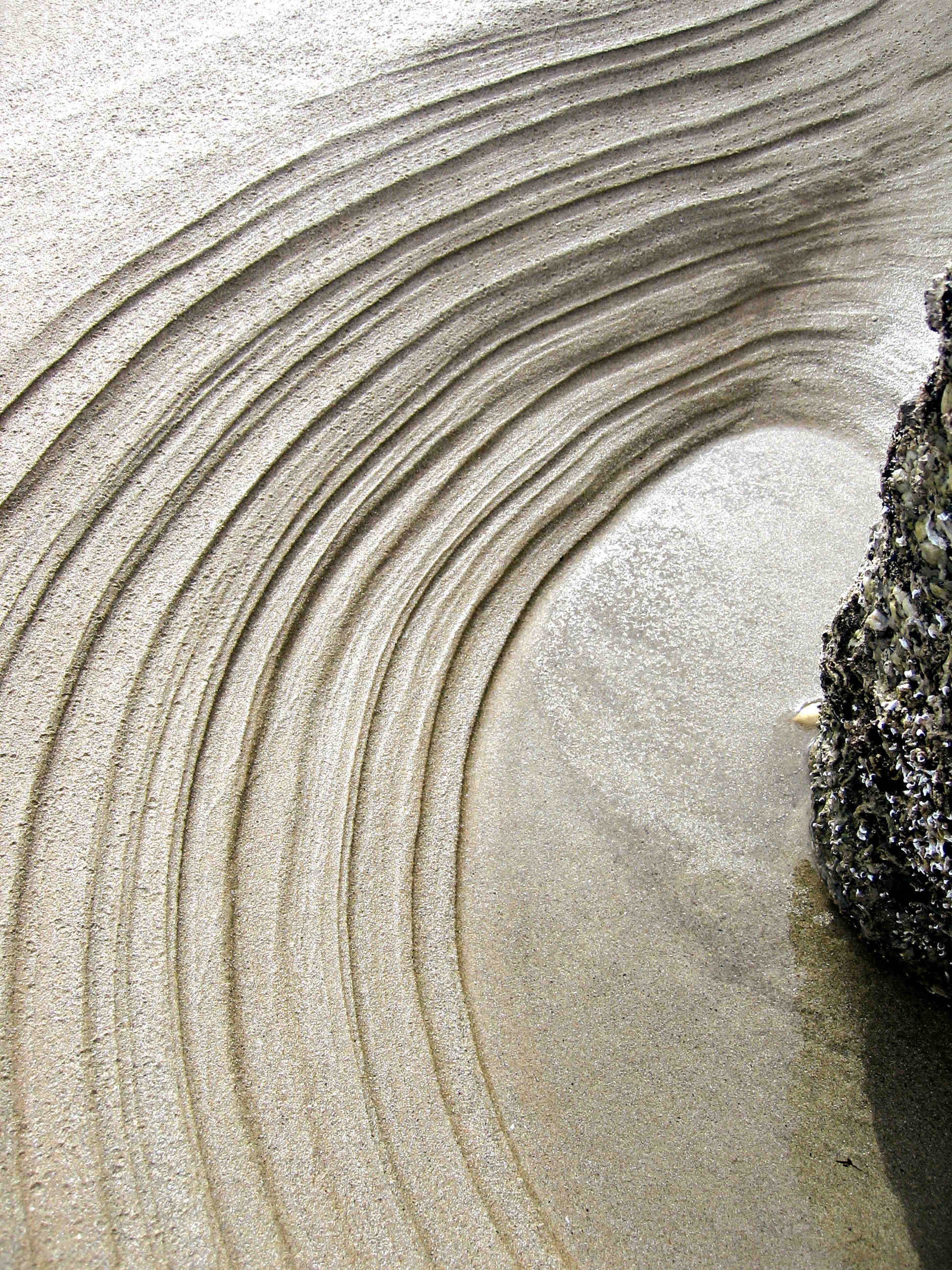 Photo of ripples of sand